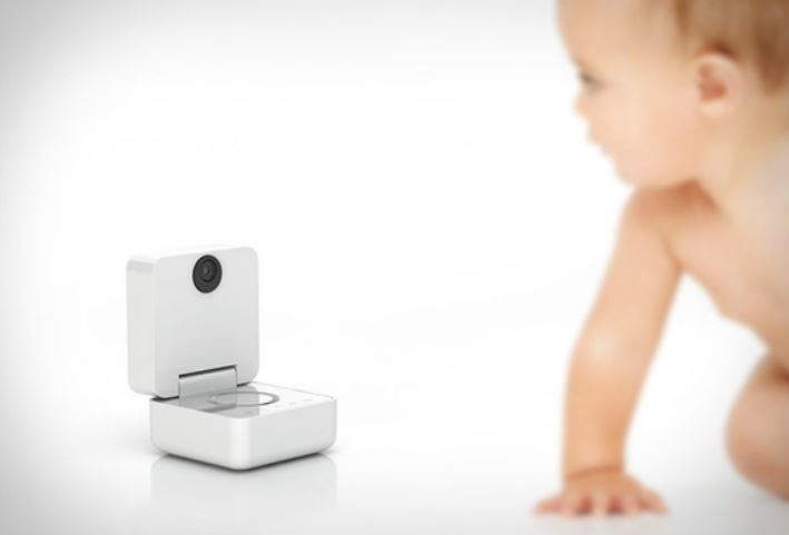 Infant Staring at Video Baby Monitor
