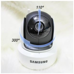 Samsung SEW 3043W Pan and Tilt Angles
