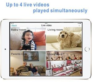 Zebora Baby Monitor 960P Super HD 4 Way Split Screen