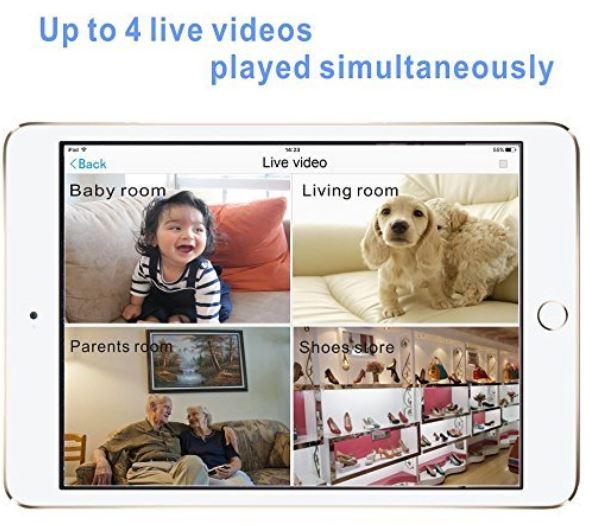 Zebora Baby Monitor 960P Super HD 4 Way Split Screen